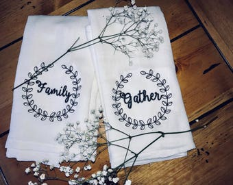 Gather and Family Decorative Tea Towel Set