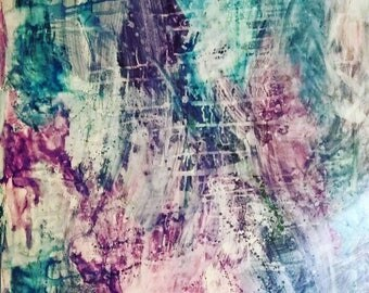 Abstract soul watercolor painting