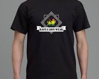 Rasta lion wear cool original Mens T-shirt RLW784