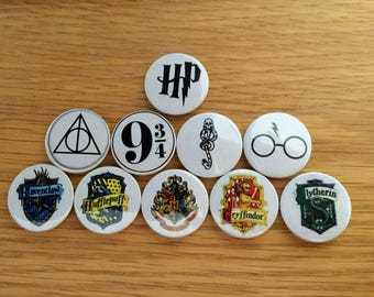 25mm Harry Potter themed badges