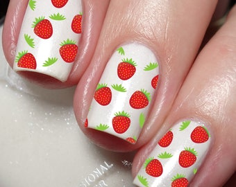 Strawberry Nail Art Sticker Water Transfer Decal 67