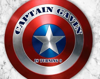 Captain America Customized Stickers DIGITAL DOWNLOAD