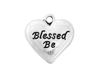 Blessed Be Heart Charm - Clip-On - Ready to Wear