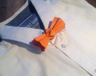 orange origami bowtie