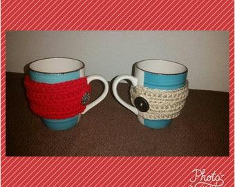 Crochet Coffee Mug Cozy Sleeve