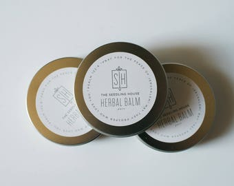 The Seedling House Herbal Balm ~ Garden Hands, Summer Feet, Crossfit, Organic, Pure, Gift Idea, Her, Him