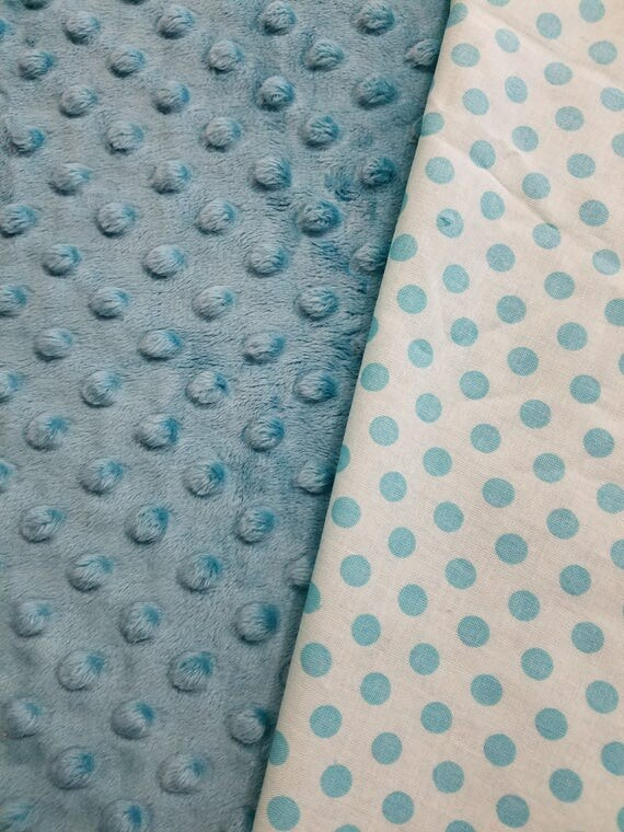 Teal Dot, Weighted, Lap Pad/Small Blanket/Travel Weighted Blanket, 3 pounds,  14.5x22, Autism, SPD, PTSD, School Pad, Small Weighted Blanket