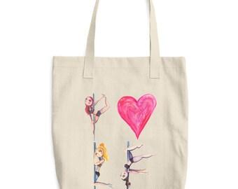 Pole Love Pole Dance Canvas Tote Bag