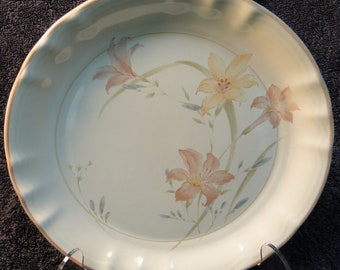 "Mikasa Jessica Salad Plate 7 5/8"" Country Classics KS302 Pastel Flowers EXCELLENT!"