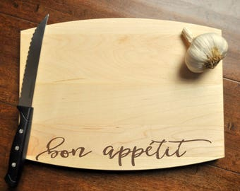Bon Appétit Cutting Board - Engraved Cutting Board, Personalized Cutting Board, Wedding Gift, Housewarming Gift, Bon Appetit
