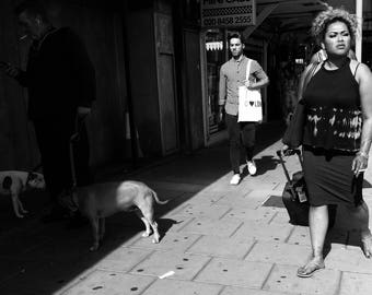 Golders Green, Black And White Street Photography, London Pictures, London Street, Urban Landscape, London Wall Art, London Street Print