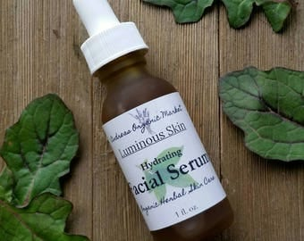 Organic Facial Serum, Natural Vegan Facial Moisturizer, Herbal  Hydrating Serum for the Face, Herbal Skin Care, Organic Facial Care