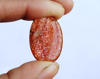 Warm sell 22.5ct Sunstone Natural Gemstone Super Quality AAA+++  Cabochon , Smooth, Oval Shape, 25x17x6mm Size, AM257