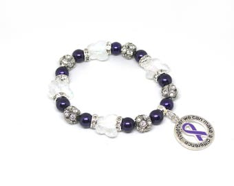Fibromyalgia - Fibromyalgia Jewelry - Fibromyalgia Bracelet - Fibromyalgia Awareness - Fibromyalgia Charm - Fibromyalgia Awareness Bracelets
