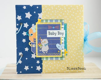 Baby Memory Book Boy Personalized Baby Book Boy Baby boy Album Baby Record Book Baby First Year Book Scrap Album For Newborn Kids Baby Album