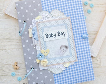 Baby Book Boy, Baby Memory Book, Baby Boy Photo Album Photo Book, Newborn Keepsake Book, Baby Book Memory, Boy Gift, Baby Record Book