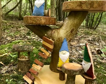 Gnome Fairy Tree House set - Shipping Included
