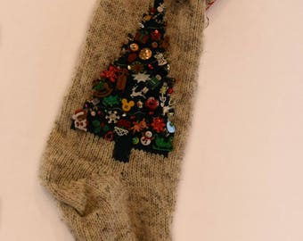Knit Christmas Stocking Personalized