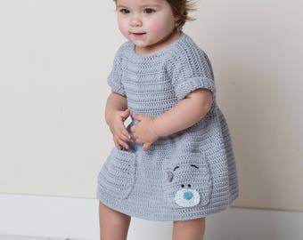 Girl Dress Crochet Pattern only Natura Just cotton Yarn