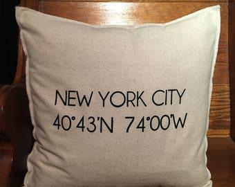 NEW YORK Coordinate 18x18 Pillow Case