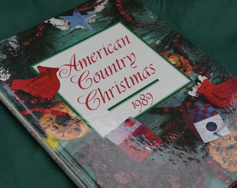 American Country Christmas 1989 Vintage Crafting Book - Hardcover (Out of Print)