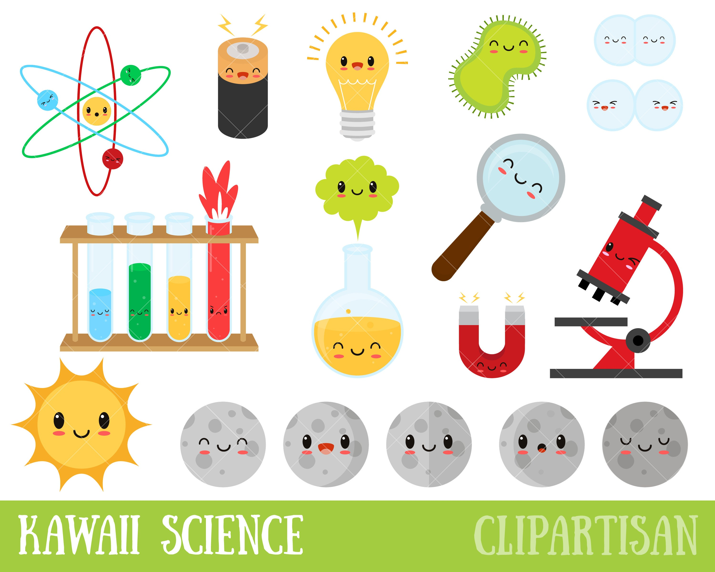 Kawaii Science Clipart