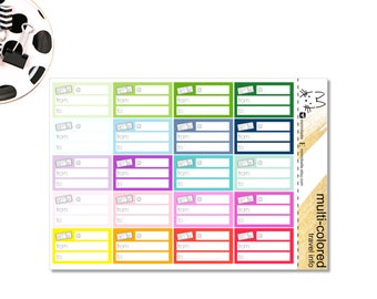 Travel Information Sticker - Perfect for the Erin Condren Life Planner