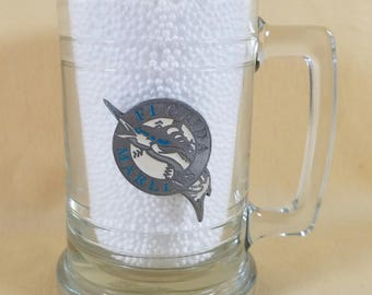 90's ~ Florida Marlins Baseball Team ~ Beer Mug ~ Beer Stein ~ Metal Logo ~ Beer Glass ~ Team Sports ~ Bar Ware ~ Seths Vintage Emporium