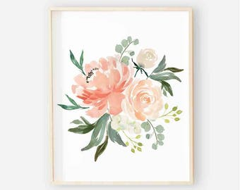 Secret Garden Floral Nursery Digital Print | Nursery Wall Art | Floral Leafy Wall Art | Floral Baby Girl Nursery Decor | Secret Garden Art 2