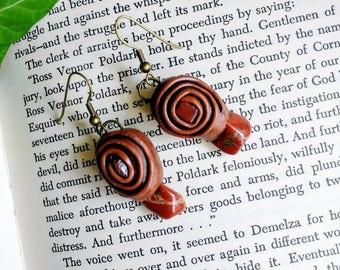 Red Jasper Terracotta earrings.