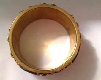 brass bangle with beading