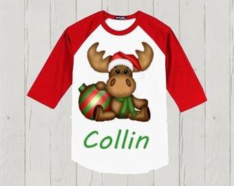 Toddler Christmas Shirt - Boy's or Girl's - Reindeer