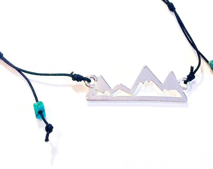 Mountain Necklace. Mountain Pendant. Rock Climbing Gifts. Rock Climbing Jewelry. Outdoor Gift. Mountain Jewelry. Gift For Climber