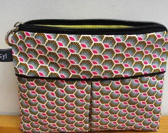 Multicolor clutch/pouch, jungle motif
