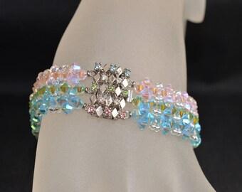 "Bracelet cristal de swarovski ""Tri-fantastique"""