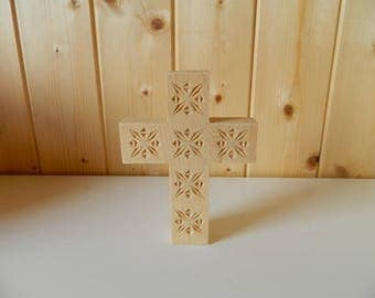 Cross carved in pine ailments