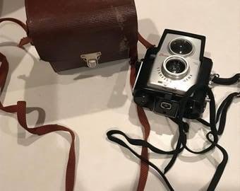 Vintage brownie kodak camera in original case