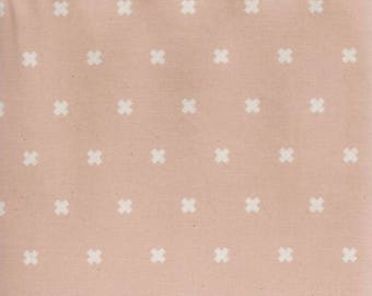 Blush changing pad cover, blush cover with crosses, blush and white bedding, baby girl bedding, baby bedding, blush, baby girl nursery