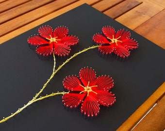 "String art pattern ""Plumeria"" 