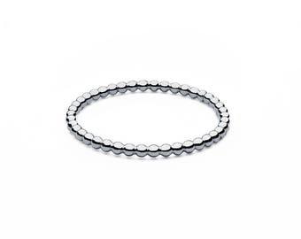 Ball closure rings • mini • silver