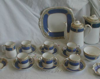 Vintage Grosvenor China Ye Olde English Bone China Coffee Set Jackson and Gosling
