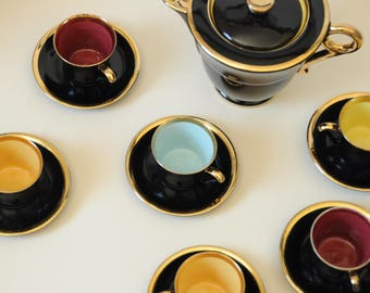 Coffee porcelain - coffee cups and coffee pot design 50s - 60s