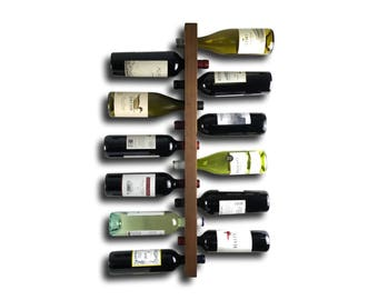 Wine Rack - Modern Wine Storage - Wood Wine Rack Wall Mount ////////// Minimalist Home Decor