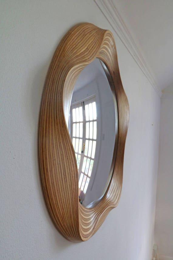 Large Convex Mirror Round Mirrors Wooden