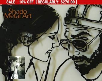 custom portrait custom family portrait | family wall art | personalized portrait | custom couple portrait | personalized couples gift