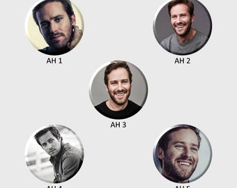 ARMIE HAMMER Buttons (Select Choice)