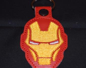 IronMan key chain key fob zipper pull bag tag