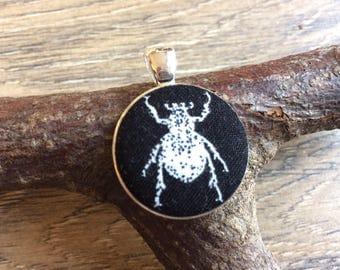 Beetle pendant, beetle print, beetle gift, beetle necklace, beetle jewellery, beetle accessories, alternative pendant, alternative necklac