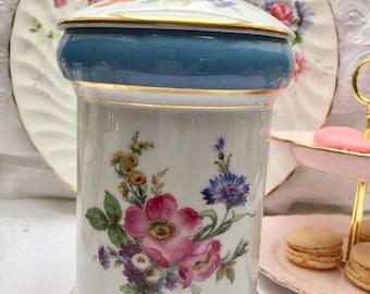 Stunning Floral Vintage Alka Kunst Large Trinket Box