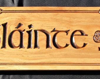 Slainte Sign; Slainte Signs; Irish Slainte, Cheers, Ireland, Health, Irish Celtic Slainte, Irish Bar Decor